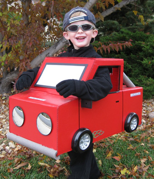 truck costume recycle