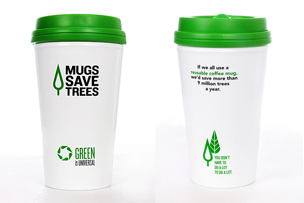 Mugs Save Trees recycling