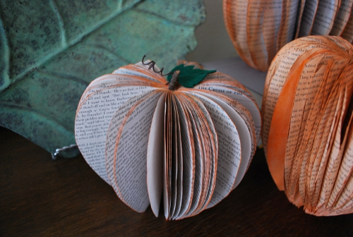 pumpkins recycled books