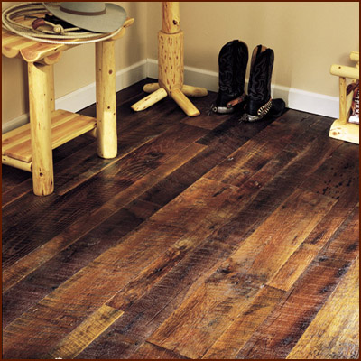 Sustainable choice furnish your home with reclaimed for Reused wood flooring