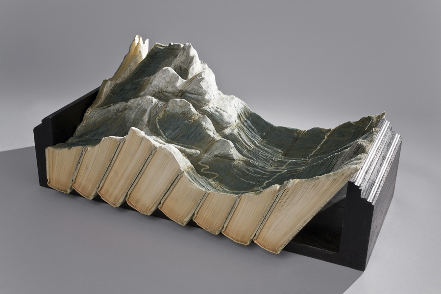Laramee Biblios tectonic 1s Guy Laramee: Stunning Landscapes Rise from the Pages of Old Books