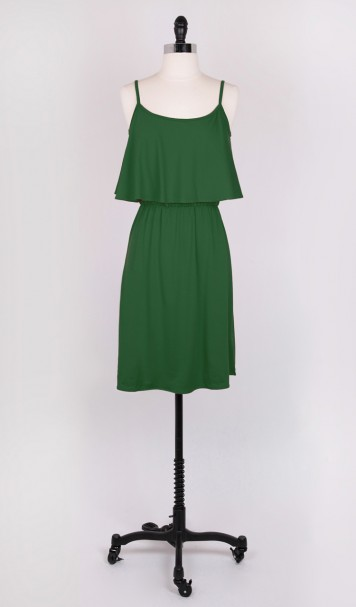 Amour Vert Drew Green Dress recycling