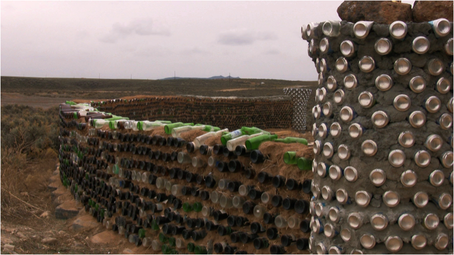 Earthship Fence Redefining Waste Andrea Rooney of Redefining Waste: Changing Waste Habits