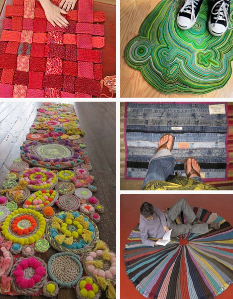 DIY recycled rugs Repurposing Underfoot: Totally DIY Recycled Rugs