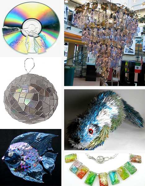 Forty ways waste warriors can recyle cds into cool for Waste product craft
