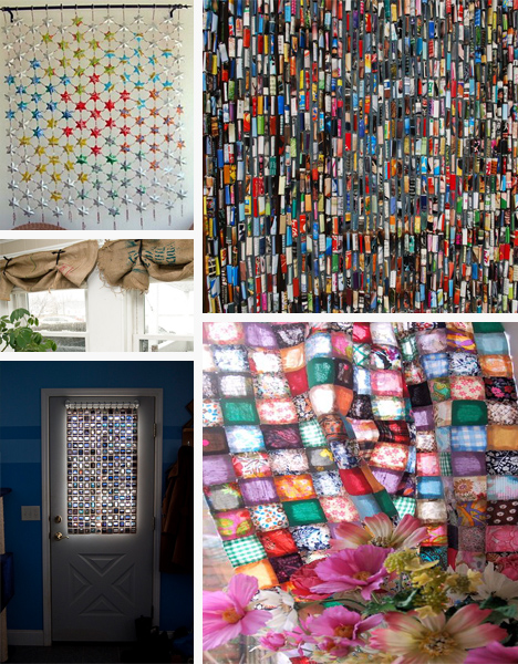 25 Recycled Curtains Made Out Of Someone Elses Trash