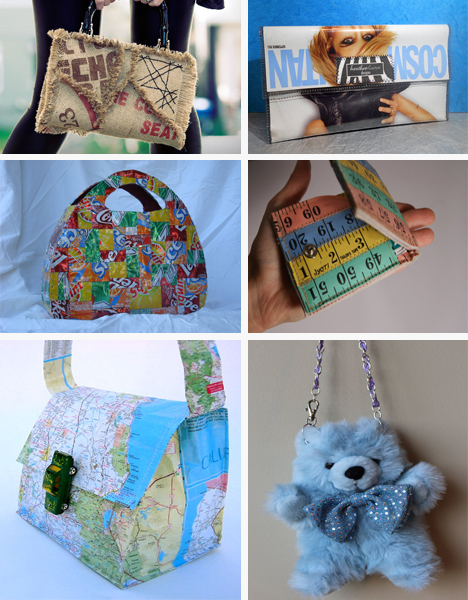 60 recycled handbag and wallet ideas for the crafty for Easy recycled materials