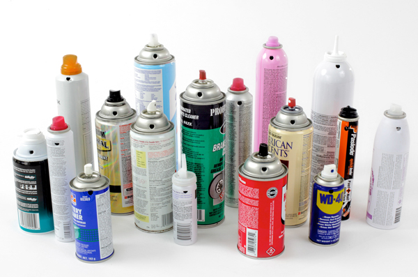 punctured aerosol cans