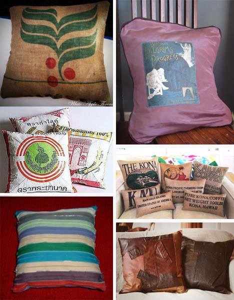 recycled throw pillows