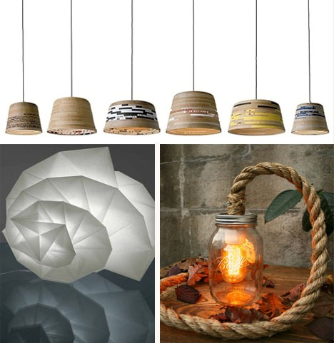 recycled sustainable lamps