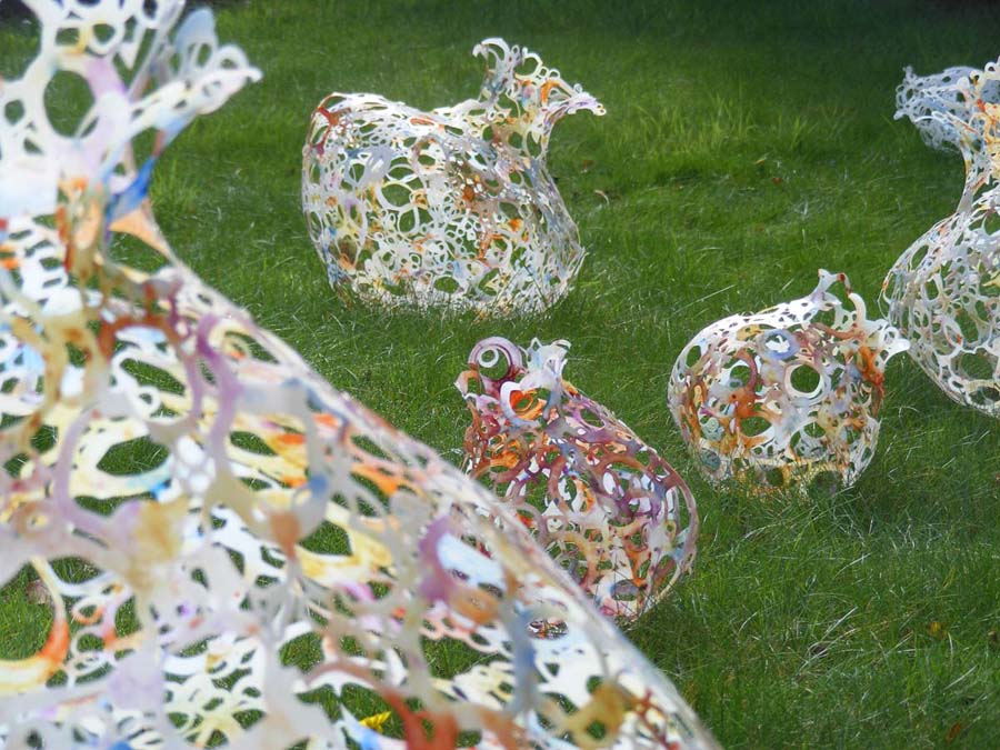 Plastic Bottle Art Vessels By Caroline Saul