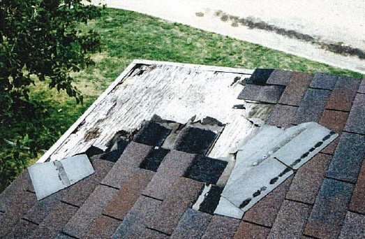 damage e1355866710162 The Staggering Impact of Roofing Waste (and a Recycling Solution)