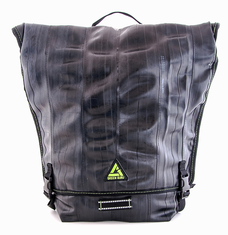 Green Guru Recycled Ruckus Backpack Old Gear Becomes Recycled Accessories with Green Guru
