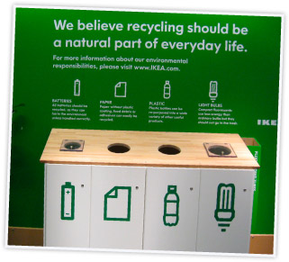 IKEA recycling drop-off