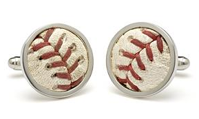 MLB recycled stitches cufflinks