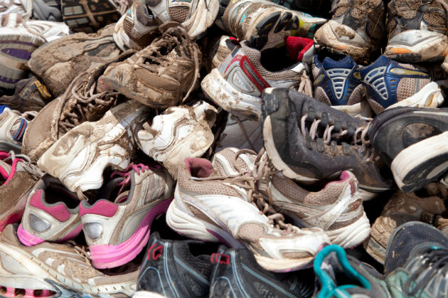 Recycle old running shoes