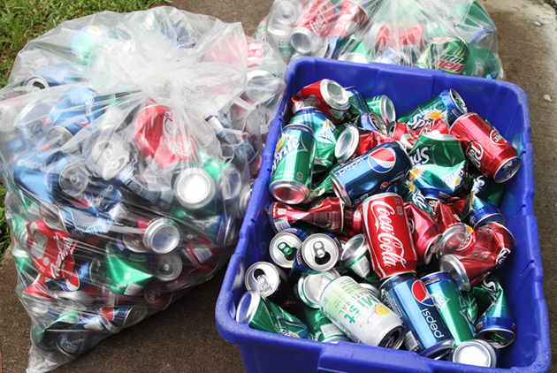 Image result for cans being recycled