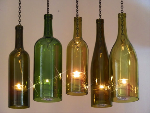 Ten chandeliers made from recycled bottles recyclenation chandeliers 7g aloadofball Choice Image