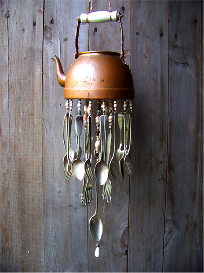 How to make windchimes out of silverware easy craft ideas for Wind chimes out of silverware