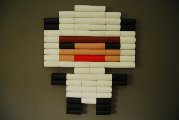 Recycled Toilet Paper Tube Art | RecycleNation