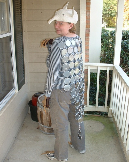 2. Tin can armadillo  sc 1 st  RecycleNation & Crazy Halloween Costumes Made From Recyclables | RecycleNation