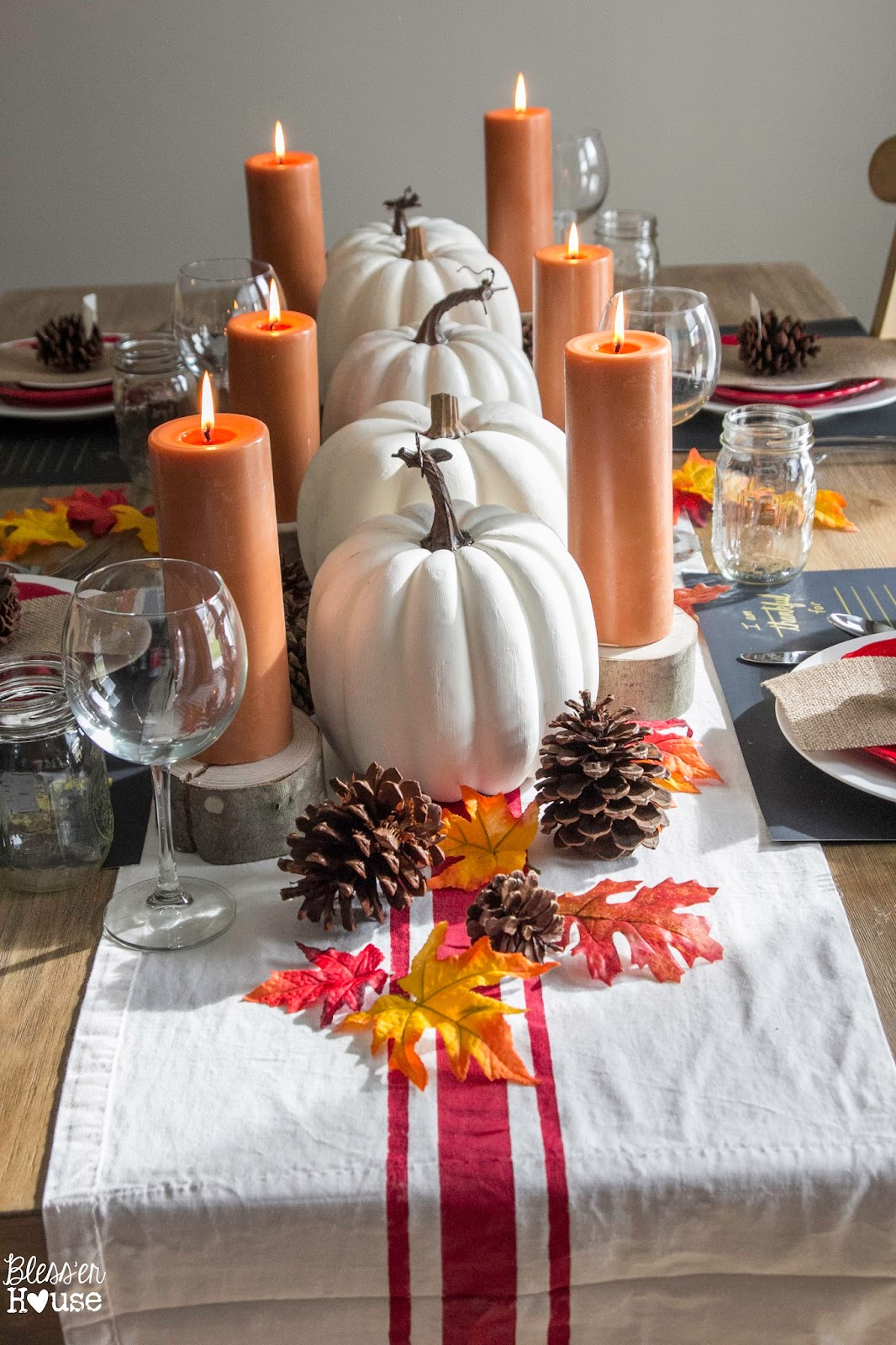 Diy thanksgiving d cor recyclenation for Diy decorations for thanksgiving