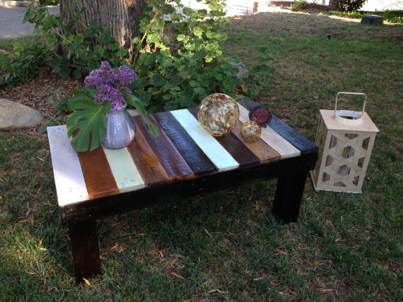 Add A Little Color To Any Room With This Gorgeous, Rustic Coffee Table. It  Was Made From 100 Percent Reclaimed Pallets. The Color Comes From  Multicolored ...